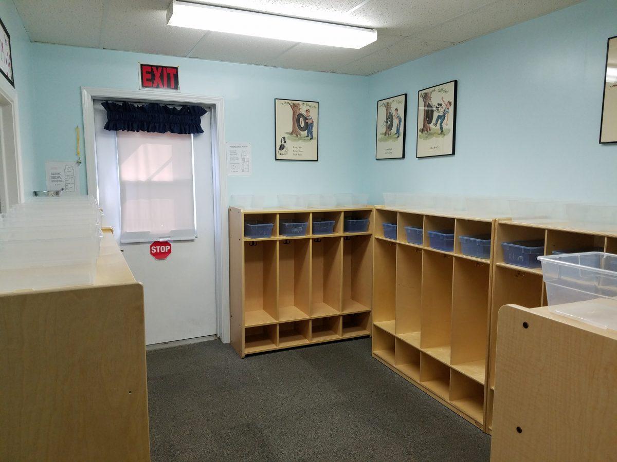 LTM preschool cubbyroom